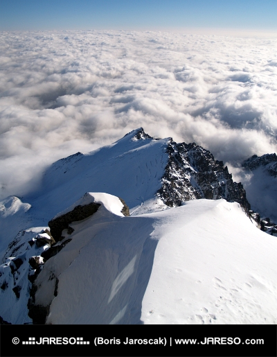 Above the clouds in High Tatras on Lomnicky Peak