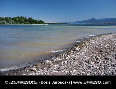 Shore of Liptovska Mara lake and Low Tatras, Slovakia