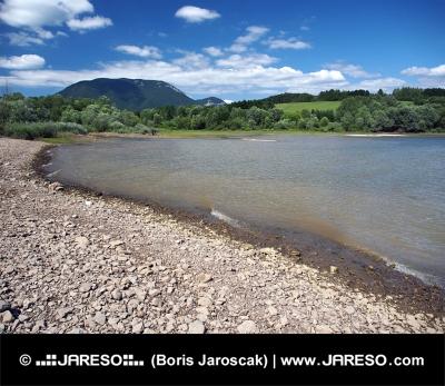 Shore of Liptovska Mara lake and Western Tatras, Slovakia