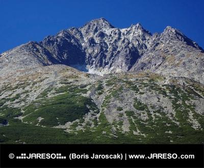 Gerlach Peak in Slovak High Tatras at summer