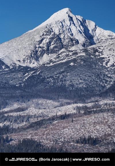 Krivan Peak in Slovak High Tatras at winter