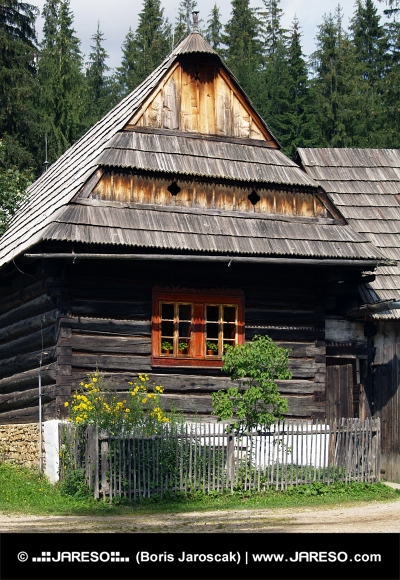 Wooden folk house in Zuberec museum