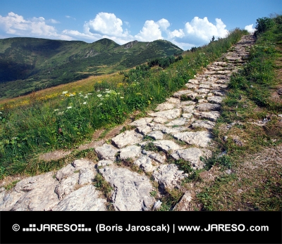 Tourist path on Chleb peak
