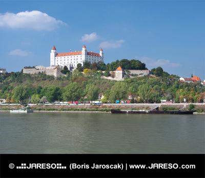 Danube river and Bratislava castle