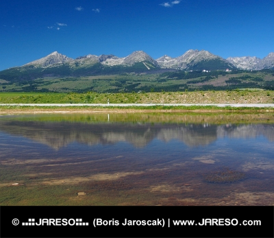 Reflection of High Tatras in lake