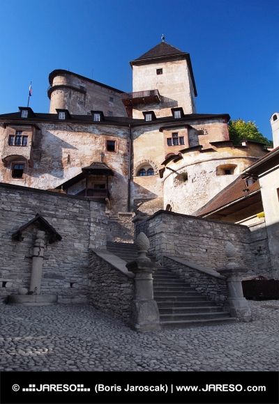 Courtyard of Orava Castle, Slovakia
