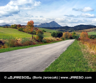 Road at Bobrovnik and Choc, Slovakia