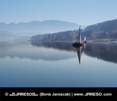 Early morning mist at Orava reservoir