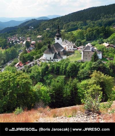 Spania valley with church, Slovakia
