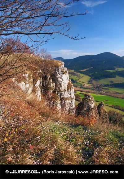 Autumn outlook from Tupa Skala, Slovakia