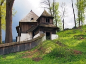 Rare UNESCO church in Lestiny, Orava, Slovakia