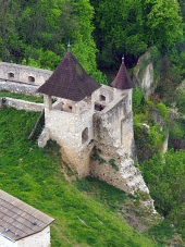 Fortification of the Trencin castle, Slovakia