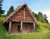 A Celtic log house, Havranok, Slovakia