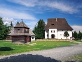 Wooden tower and manor in Pribylina, Slovakia