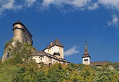 Orava Castle in clear summer day
