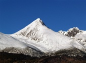 Krivan mountain during clear winter day in Slovakia