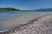 Shore of Liptovska Mara lake and Low Tatras, Slovakia
