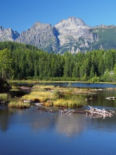 Strbske Pleso in Slovak High Tatras at summer