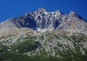 Gerlach Peak in Slovak High Tatras at summer