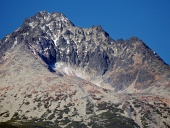 Gerlach Peak in Slovak High Tatras at autumn