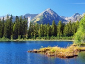 Nove Strbske Pleso and Solisko Peak in High Tatras