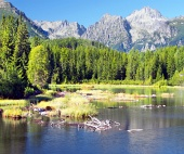 Strbske Pleso and Strbsky Peak in High Tatras
