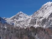 Peaks of High Tatras and Ski jump