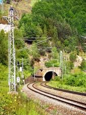 Railroad and tunnel