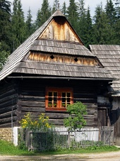 Wooden folk house in Zuberec museum