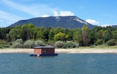 Houseboat and Rohace in summer