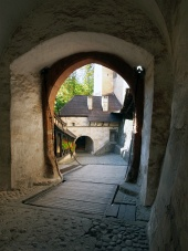 Drawbridge and gate at Orava Castle, Slovakia