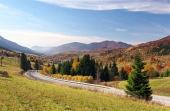 Road to Terchova village, Slovakia