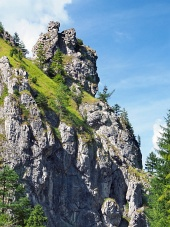 Unique rocks in Vratna Valley, Slovakia