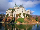 Famous Bojnice castle in autumn