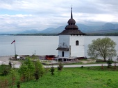 Remains of church at Liptovska Mara, Slovakia