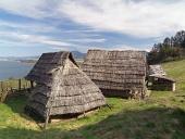 Celtic houses, Havranok Skansen, Slovakia